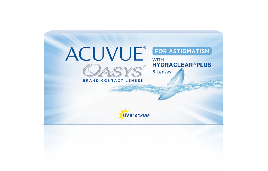 ACUVUE OASYS® pour ASTIGMATISME avec technologie HYDRACLEAR® PLUS